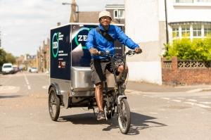 Rider on cargo trike